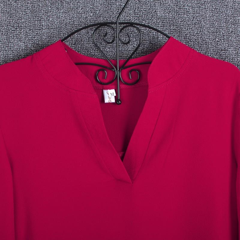 HTB1DDZmKpXXXXa1aXXXq6xXFXXXQ - Chiffon Blouse Shirts Women's Long Sleeve V-Neck