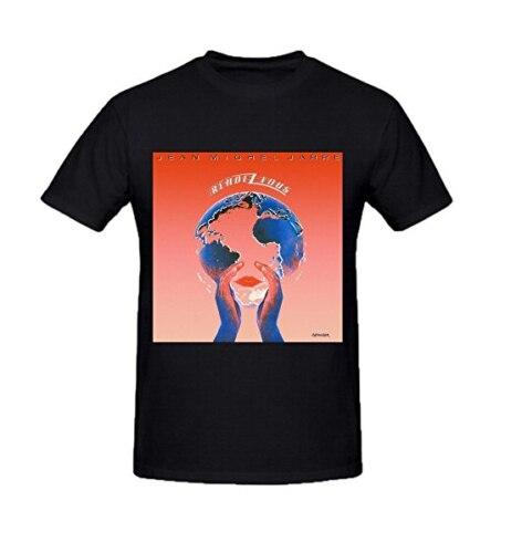 Jean Michel Jarre Rendez Vous Mens T Shirts Design Crew Neck Harajuku Funny Rick Tee Shirts