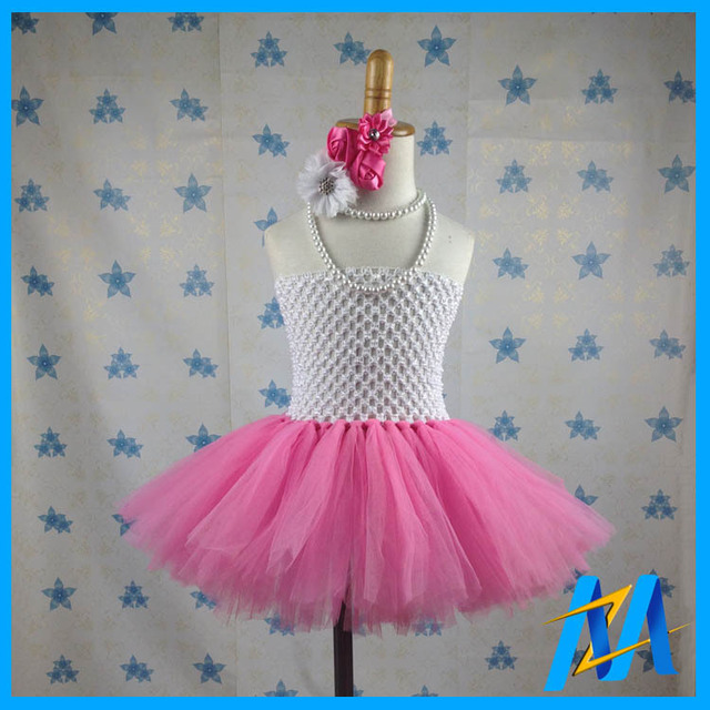 Wit Roze 11 Stijlen Pasgeboren Baby Tutu Dress Schattig Meisje 1
