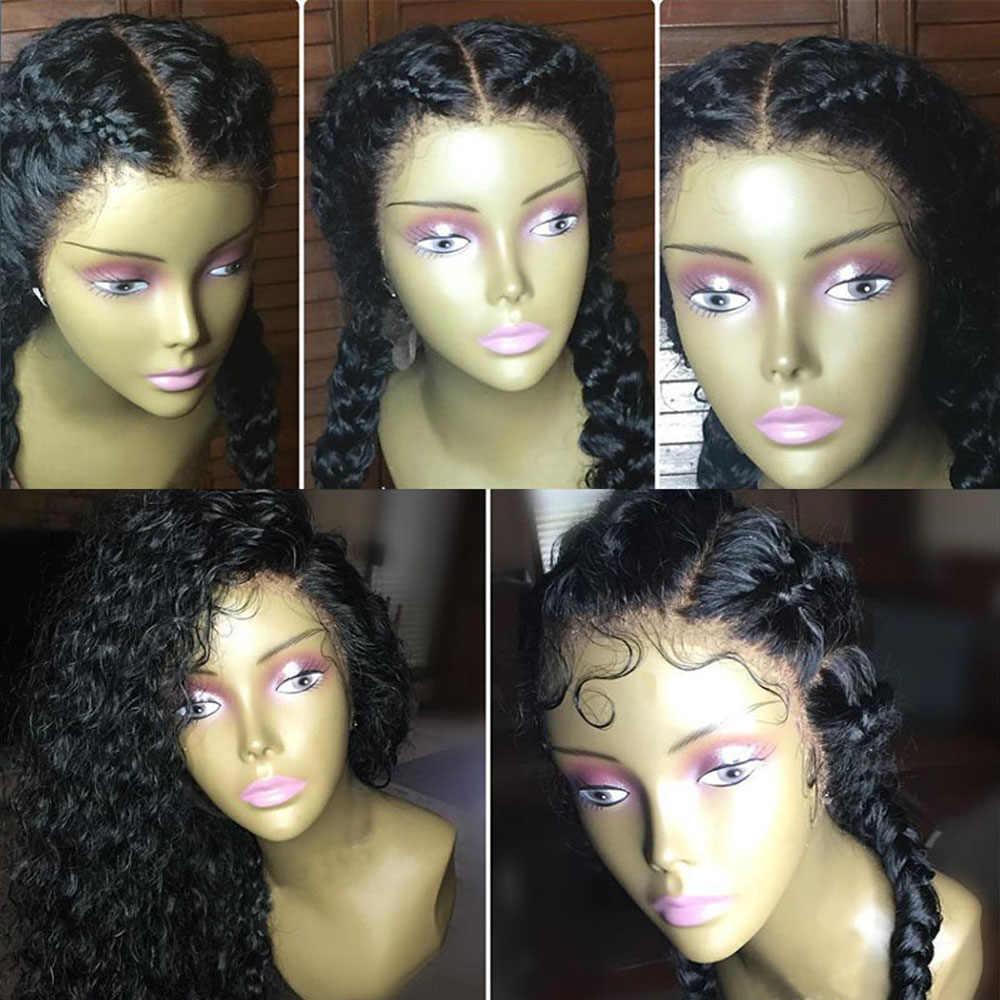 Парики из натуральных волос на шнурках с детскими волосами, влажные и волнистые бразильские кудрявые человеческие волосы, парики для черных женщин