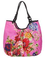 Ethnic Female Line Printing Cotton Flowers Sweet Lady Celebrity Tote Shoulder Bags Fashion Woman Handbags Designers