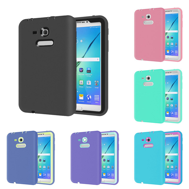New Rugged Heavy Duty Shock Proof Silicone Case Cover for Galaxy Tab 3 Lite 7.0 SM-T110 / SM-T111 / SM-T113 / SM-T116 EM88