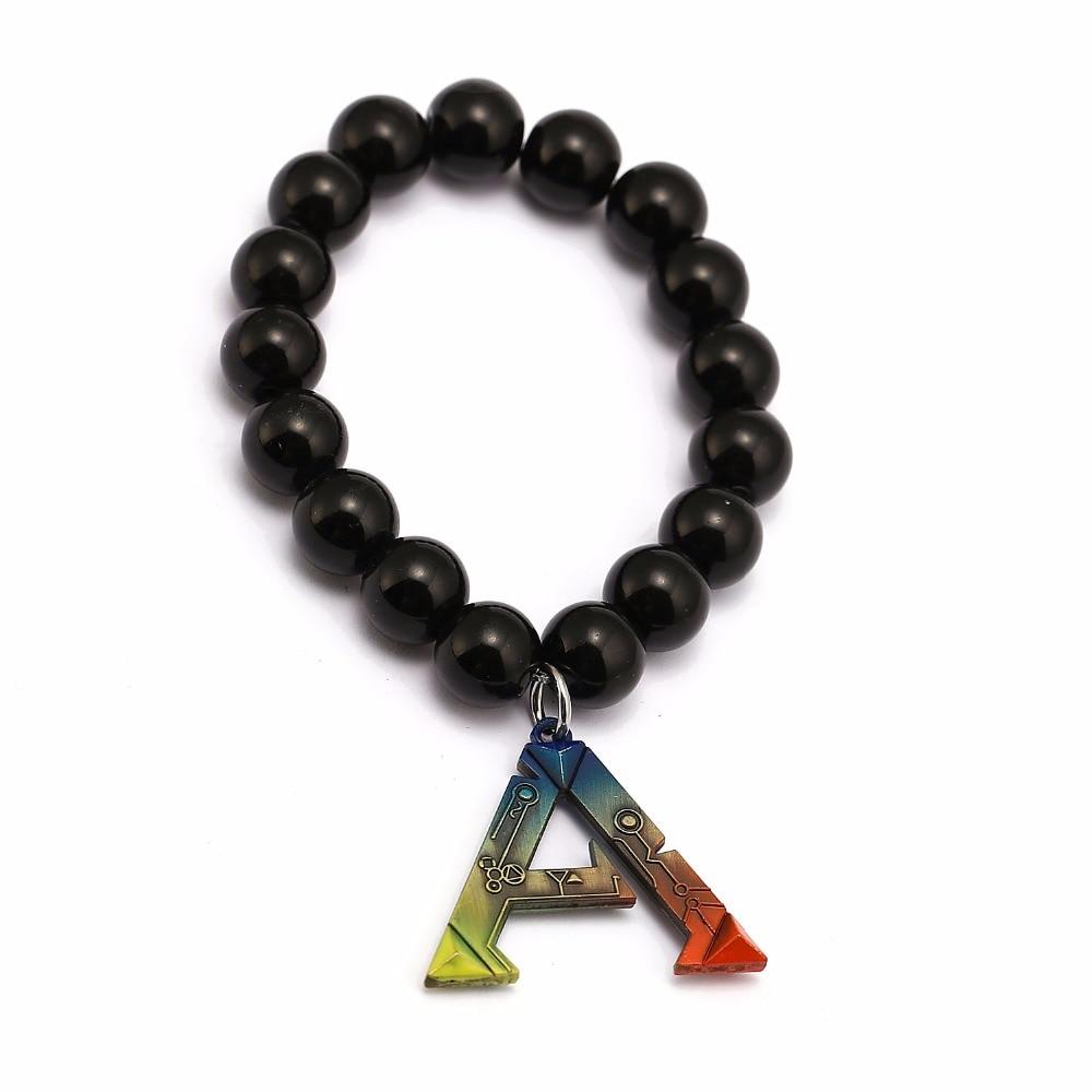 Jewelry Charm Letter Pearl Bracelet Game Ark Survival Evolution ARK Survival String Beaded Bracelet