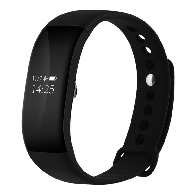V66 Smart Wrist <font><b>Band</b></font> Heart Rate <font><b>Bluetooth</b></font> Sport Smart Wristband Bracelet For iPhone 7 Plus Android Smartphone OLED Touch Screen