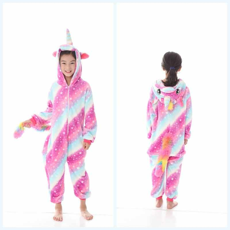 cae954405a Onesies baby one piece Pajamas Animal childe Cosplay Hooded Pajama Girls  Boys Unicorn Stitch Panda Cartoon