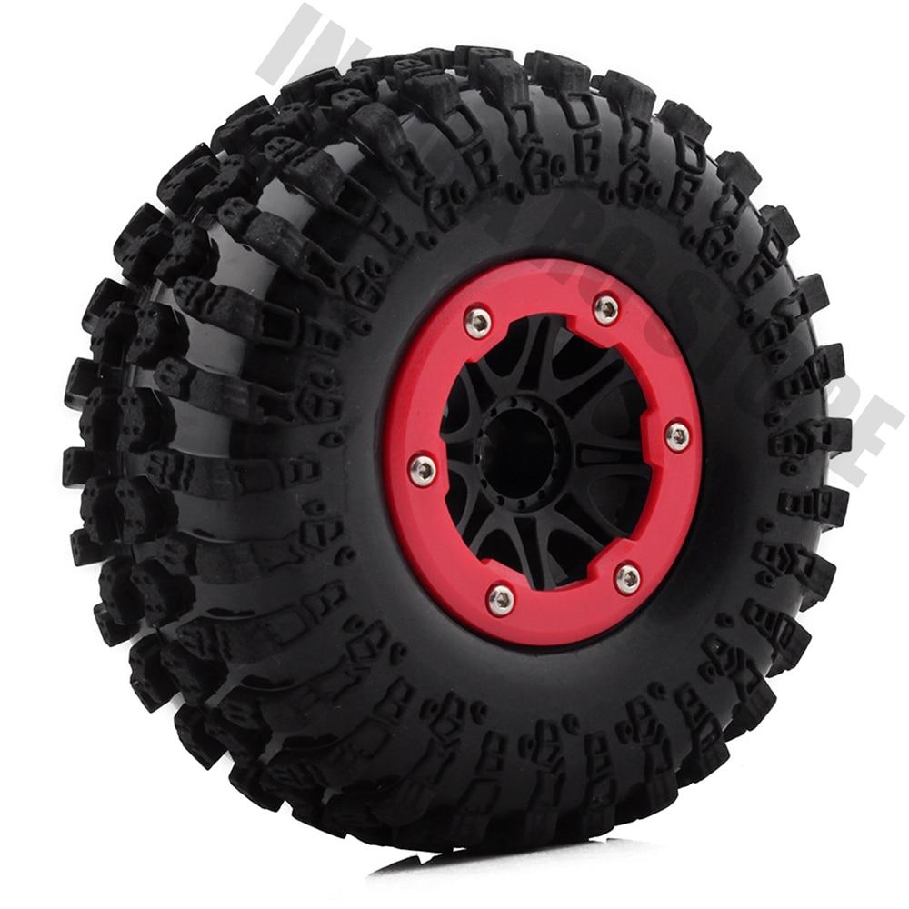 4PCS 1/10 RC Rock Crawler Rubber Tires & 2.2 BEADLOCK Wheel Rim for Axial SCX10 Wraith RR10 Yeti4PCS 1/10 RC Rock Crawler Rubber Tires & 2.2 BEADLOCK Wheel Rim for Axial SCX10 Wraith RR10 Yeti
