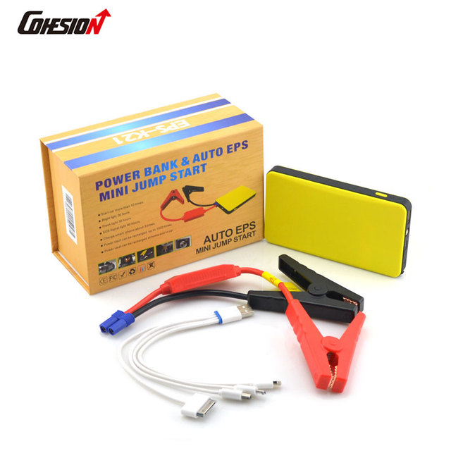 Yellow 12V Portable Car Kit Car Battery Tool Car Jump Starters (K21 6000mAh)