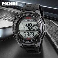 New SKMEI Sport Watch Luxury Brand LED Electronic Digital Watch 5ATM Waterproof Outdoor Sport Watches For