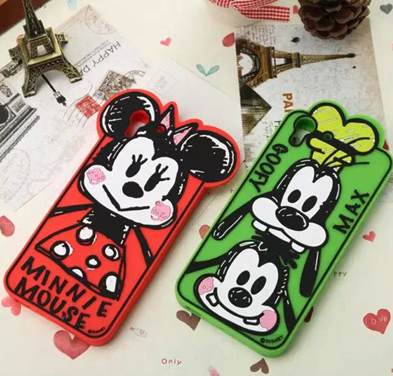 cute candy 3D Cartoon DonaldDuck Daisy mickey minnie Graffiti Silicone rubber lovely Soft Cover Case for HTC desire eye Skin