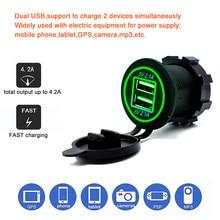 2 Port USB Car Charger 5V 4.2A output with led light