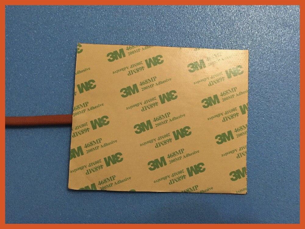 Réchauffeur de Silicone 3d stampante 300*300mm 220 v 400 w 3 m adhésif réchauffeur d'huile silicone coussin chauffant transfert de tissu impression panneau thermique