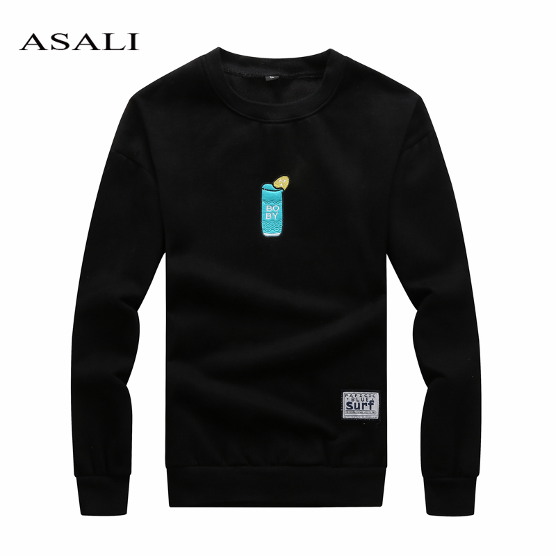ASALI Brand Clothing New Men Hoodies Autumn Winter Male Fashion Pullover Mens Casual Fleece Sweatshirt For Men