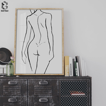 Modern Simple Sex Girl Canvas Poster Minimalist Nordic Style Wall Art Print Painting Decoration Pictures Home Decor