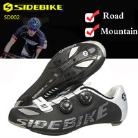 Bike Shoes Mountain Road Cycling Shoes Superfine Fiber Outside MTB Breathable SPD Men Carbon Fiber Sole Auto lock Bicycle Shoes