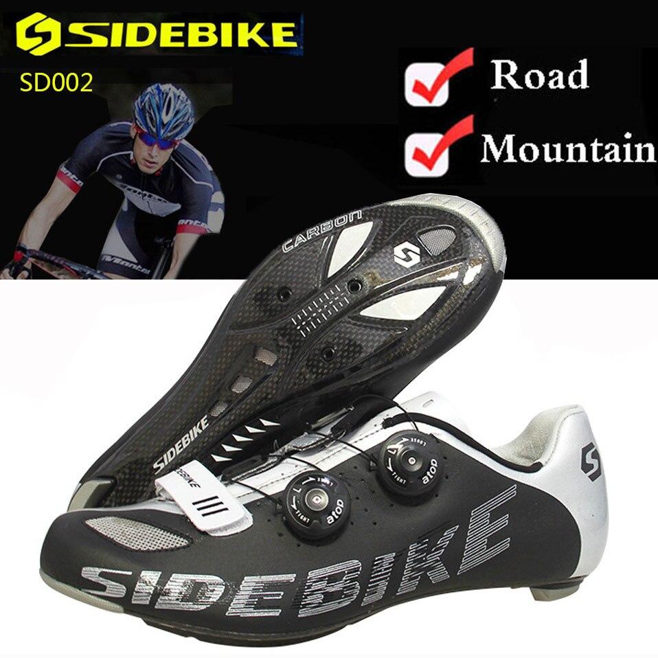 Bike Shoes Mountain Road Cycling Shoes Superfine Fiber Outside MTB Breathable SPD Men Carbon Fiber Sole Auto lock Bicycle Shoes