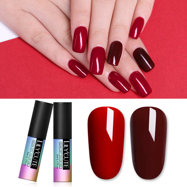 LILYCUTE 5ml Glitter Lacquer Nail Gel