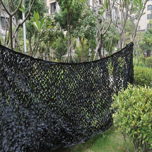 4X4M Black Hunting Camping Military Camouflage Net Hide Camouflage Netting Outdoor Camping Shooting Oxford Fabric Camo Net