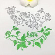Plant Flower Vine Metal Cutting Die Stamp for Scrapbook Embossing Stencil Mold For DIY Paper Art HandcraftCard Decoration