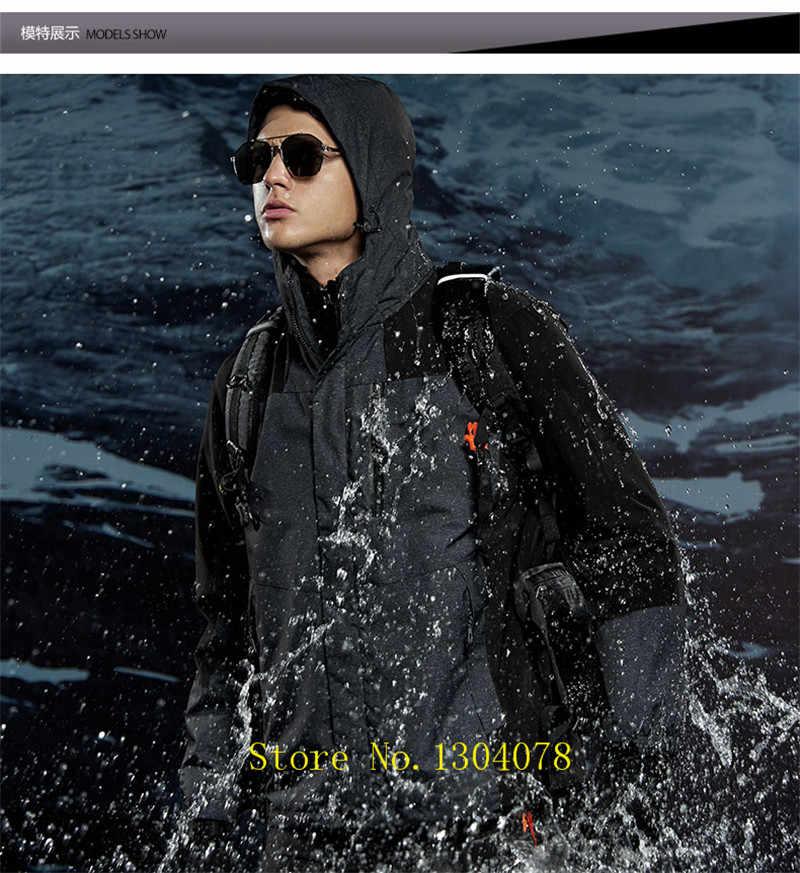 AFS ジープ冬パーカー男性帽子フリースライナー取り外し可能な通気性防水防風メンズ冬のジャケット & コートプラスサイズ 4XL