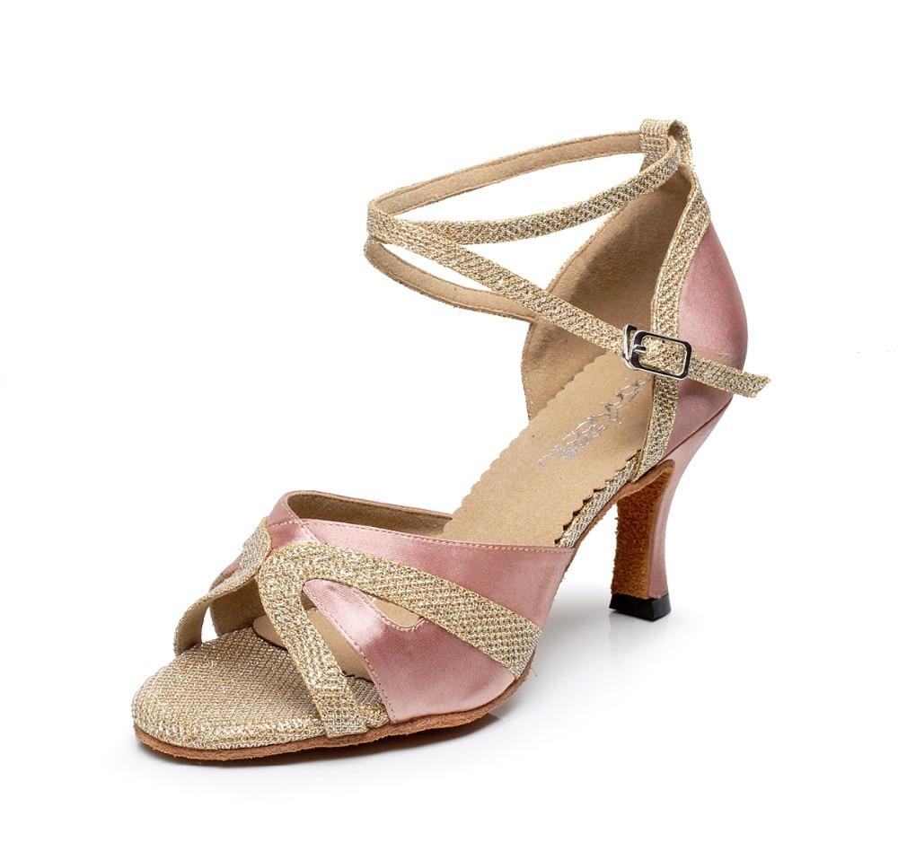 Women Latin/Ballroom Modern Dance Shoes Girls Satin Samba Tango Waltz Kizomba Salsa Party Dance High Heels 6/7.5/8.5cm 1778