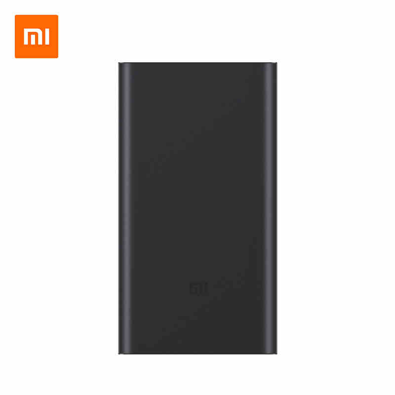 Original Xiaomi Mi 10000mAh Power Bank 2 Quick Charge 10000 MAh Powerbank 2nd External Battery Slim
