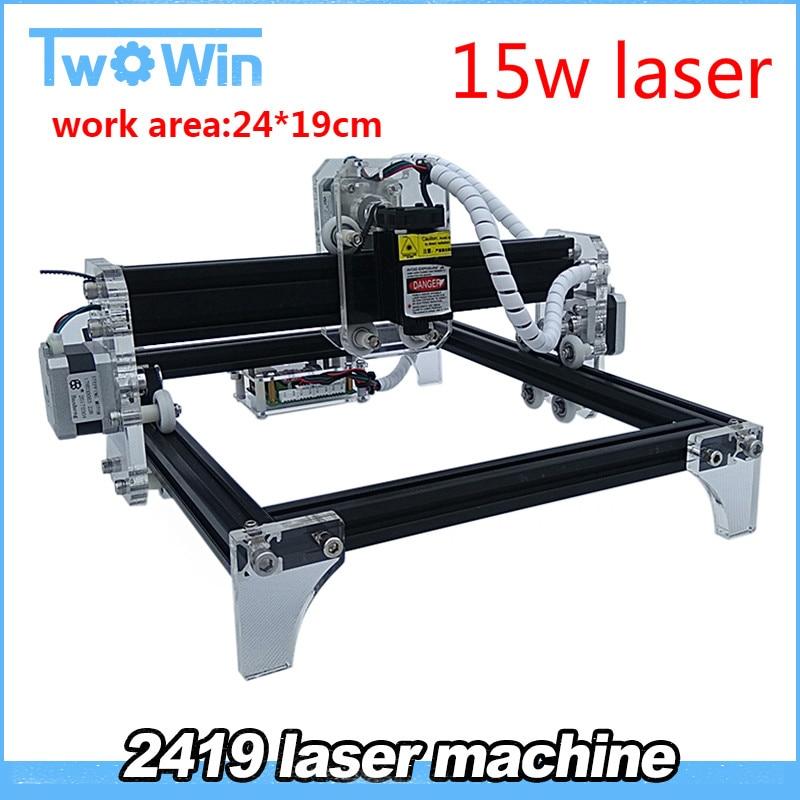 15w 500mw 2500mw 5500mw Desktop DIY Violet Laser Engraving Machine Picture CNC Printer working area 24cmx19cm