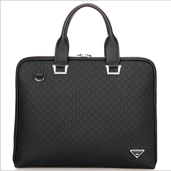 "3colors hk dashan brand men's briefcase high quality pu leather business man 15"" laptop handbags black fashion casual male bags"