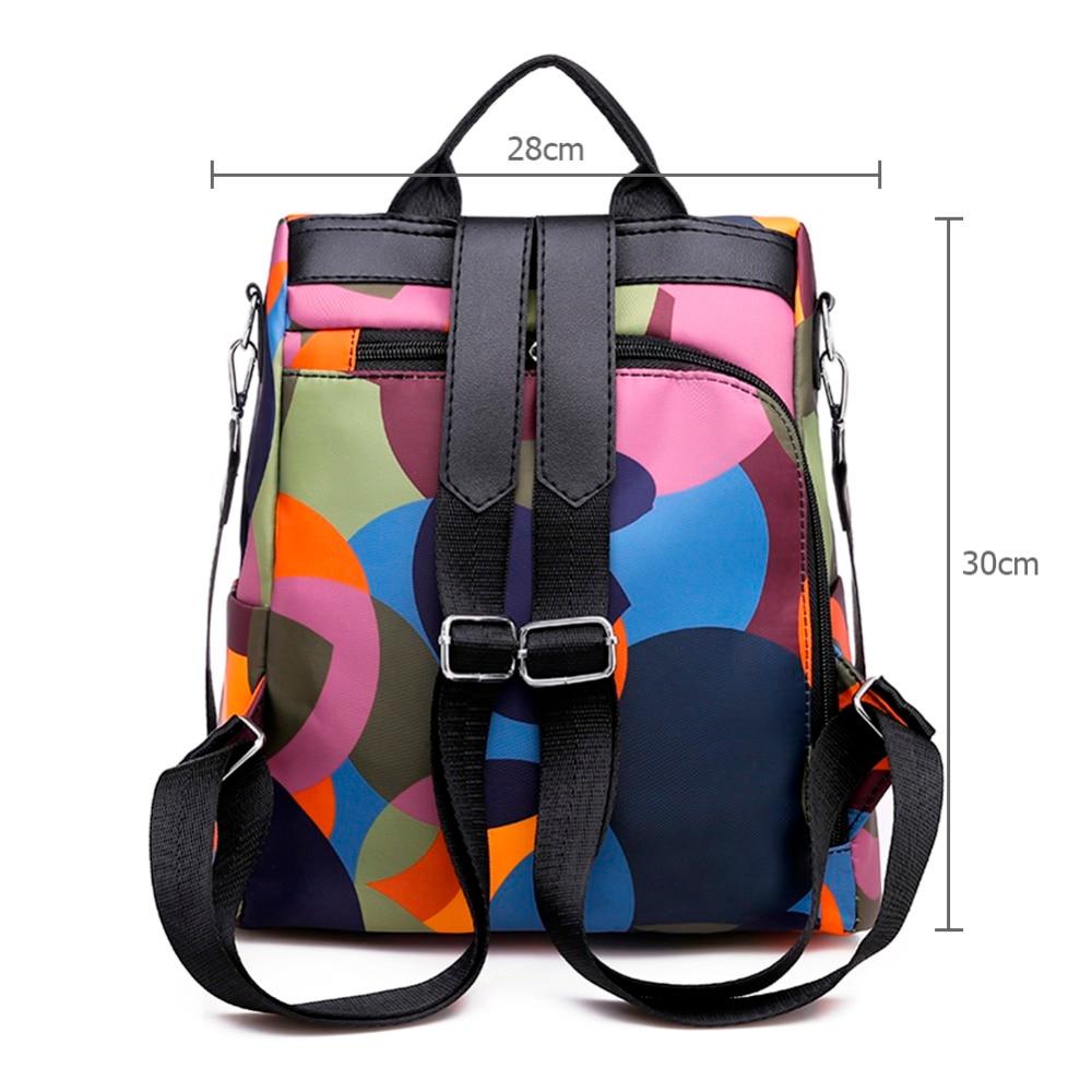HTB1DDbnNwHqK1RjSZFgq6y7JXXaV Casual Oxford Cloth Women Backpack Anti Theft Girls Schoolbags Teenager Travel Daypack Shoulder Bag Colorful Fashion Back Pack