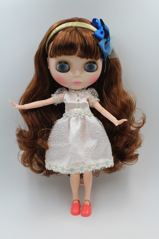 Free Shipping BJD joint RBL-207J DIY Nude Blyth doll birthday gift for girl 4 colour big eyes dolls with beautiful Hair cute toy free shipping top discount joint diy nude blyth doll item no 207j doll limited gift special price cheap offer toy usa for girl