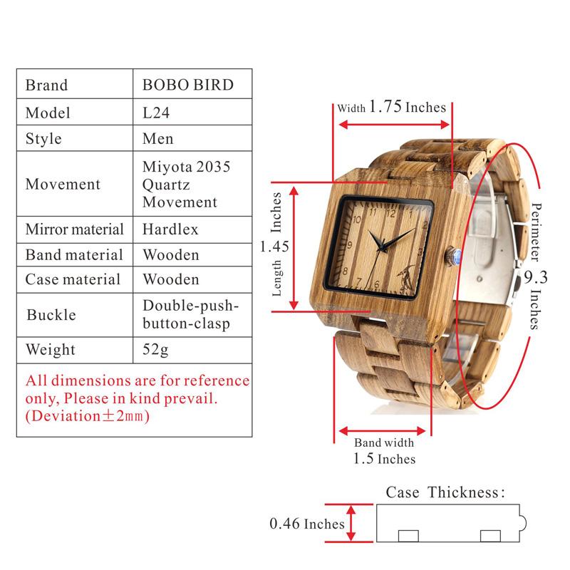 BOBO BIRD Men's Wood Watch Comes In Wooden Gift Box 16