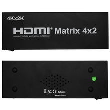 New HDMI Matrix 4X2 Switch Splitter HIFI Matrix 4 in 2 out with Remote Control Audio Supports HDMI V1.4/3D/4Kx2K