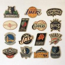 """""""NBA de La Conférence Ouest Équipe Logo"""" Bar Café Décoration de La Maison Antique Affiche Tableau Mural Rétro Basket-Ball Sticker Mural Décoratif"""