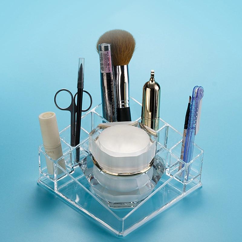 Clear Acrylic Makeup Lipstick Organizer Storage Box Desktop Holder Rack Case @ME88