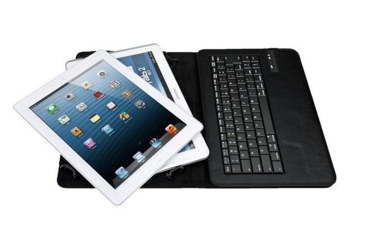 ФОТО Black Universal Detachable Wireless Bluetooth Keyboard Case For 9.7