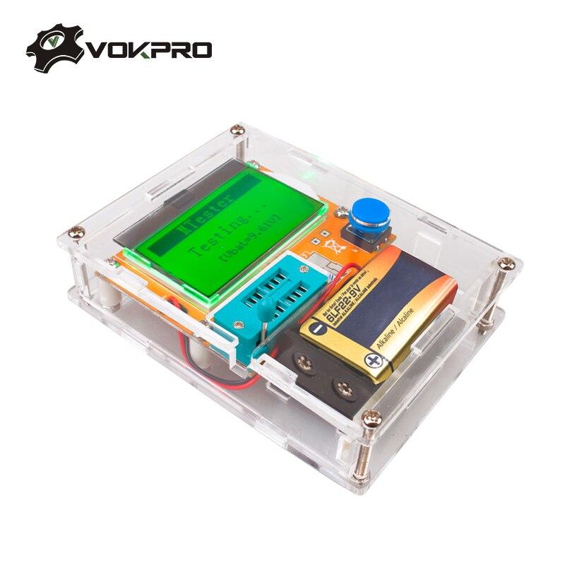 ESR Meter Mega328 Transistor Tester Digital V2.68 ESR-T4 Diode Triode Capacitance MOS/PNP/NPN LCR 12864 LCD Screen Tester