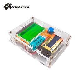 Medidor de ESR Mega328 Transistor Tester Digital V2.68 ESR-T4 Diode Triode Capacitância MOS/PNP/NPN LCR 12864 Tela de LCD tester