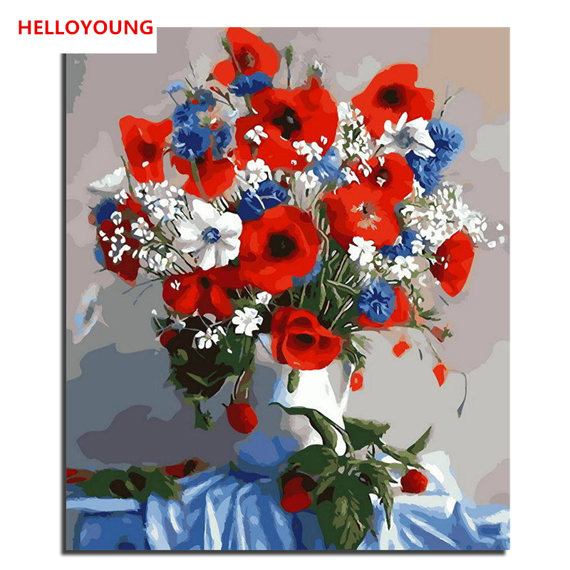 Yh017 diy handpainted oil painting pretty flower digital painting by yh017 diy handpainted oil painting pretty flower digital painting by numbers oil paintings chinese scroll paintings home decor in paint by number from home mightylinksfo