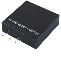EU Scart to HDMI converter Scaler cable adapter Scart in hdmi HDMI out with power adapter up to 720P