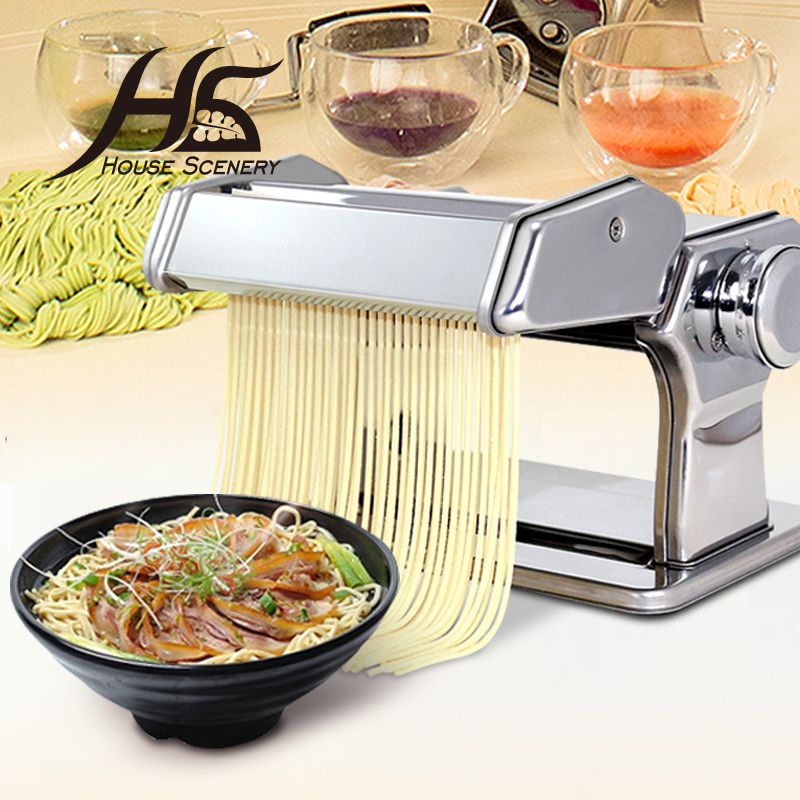 Kitchen Breakfast Bar Pole: House Scenery Household Mini Pasta Machine Manual Metal
