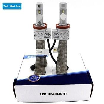 Tak Wai Lee 2X 6Pcs LED Car Headlight 22W Auto Motorbike Bulb 4000LM White 6500K Luxeon ZES Light Source IP65 Front Fog Lamp