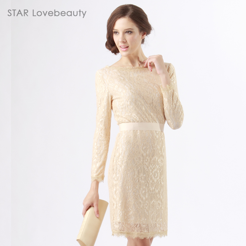 2a87c14485663 Autumn and winter lace princess kate fairy pure kate middleton dresses long  sleeve warm women OL office lady work wear vestidos-in Dresses from Women's  ...