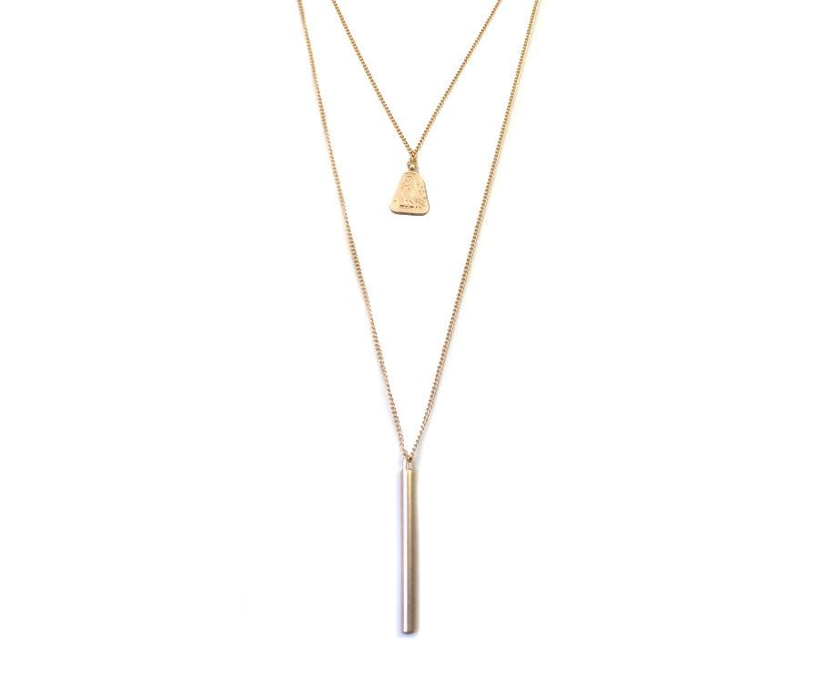 9c4c48f85d16 Joyería de moda nuevo venir aleación de zinc elegante simple palo colgante  y Collares para mujeres al por mayor de la fábrica