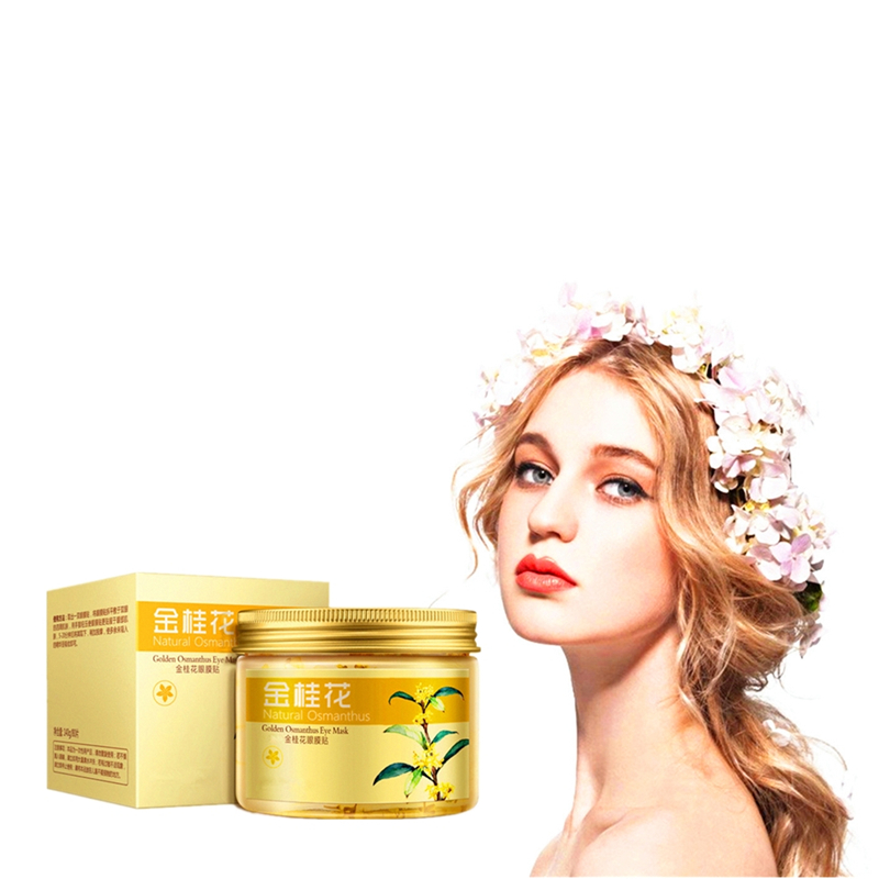Osmanthus Lighting Eyes Gel Anti Wrinkle Eye Mask Anti-Puffiness Dark Circle Anti-Aging Moisturizing Eye Patches 80Pcs/bottle