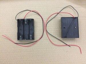Image 2 - 100% nuevo 50 unids/lote negro de alta calidad 1,5 V batería 3 AA caja soporte para DIY experimento de laboratorio de prueba hobby envío gratis