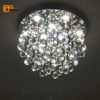 New Design Modern Lights Crystal Chandelier Round Ceiling Fixtures AC110V 220V Living Room Bedroom Lamp