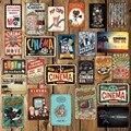 [Mike86] попкорн для кинотеатра, металлическая табличка, настенный постер, домашний рисунок на железной поверхности в стиле ретро, художествен...