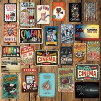 [ Mike86 ] CINEMA MOVIE POPCORN Metal Sign Wall Plaque Poster Home Retro iron Painting art Christmas Gift Decor Art FG-514