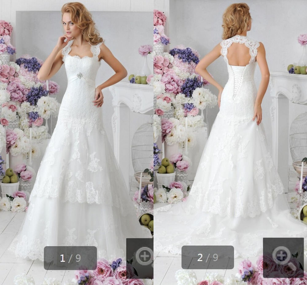 2015 Latest Style Mermaid White Lace Stylish Wedding