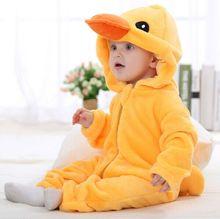 Soft Fleece Cartoon Animal Baby Rompers