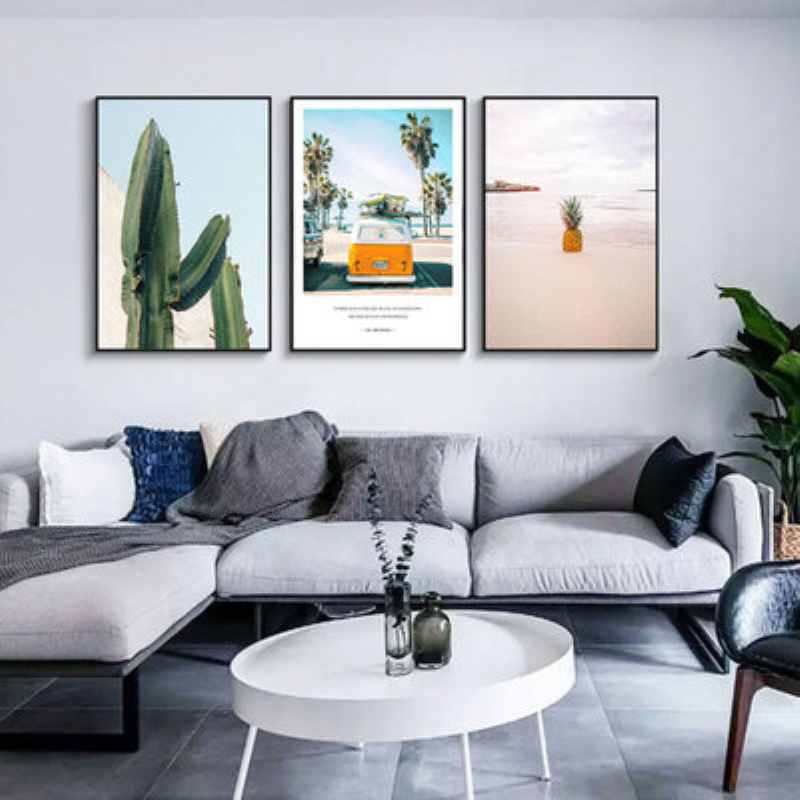 Travel Car Elk Cactus Landscape Wall Art Canvas Painting Poster Nordic Modern Wall Pictures Living Room Home Decor Picture in Painting Calligraphy from Home Garden